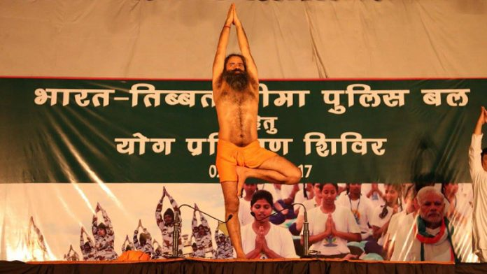 Baba Ramdev teaches yoga to Indo-Tibetan Border Police